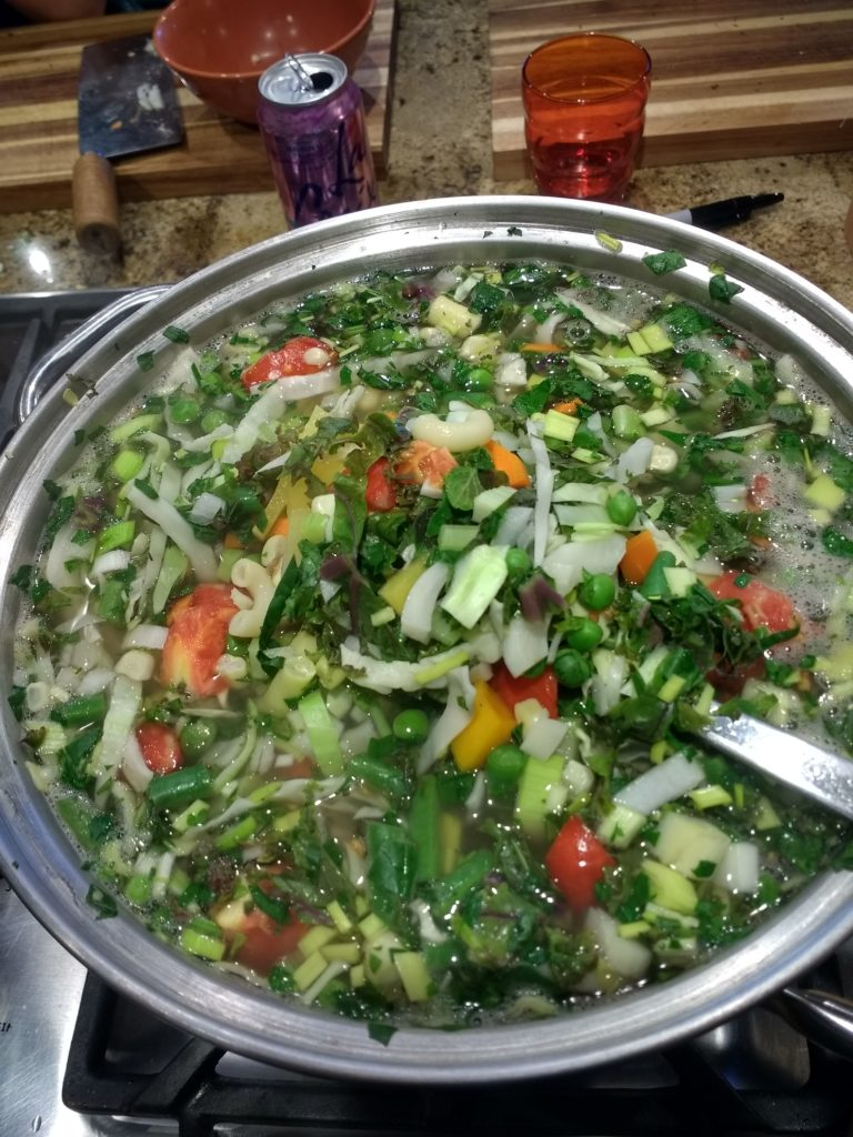 13 vegetable soup